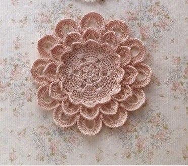 Схема крупного цветка