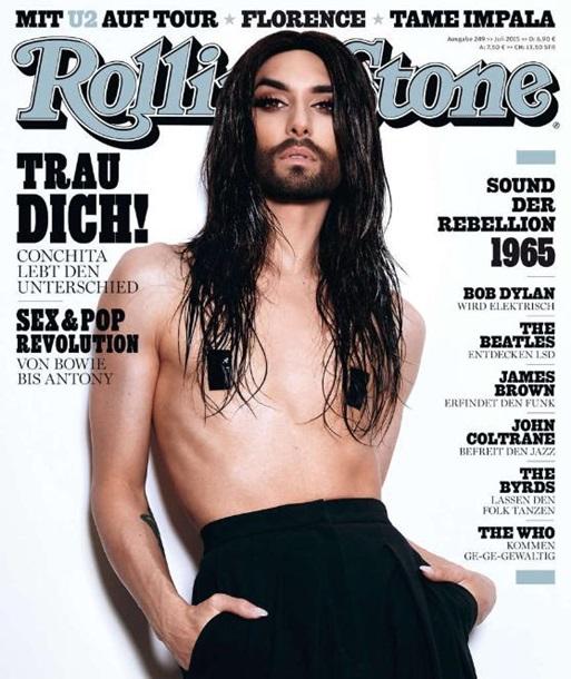 Бородатая женщина снялась для июльского выпуска Rolling Stone
