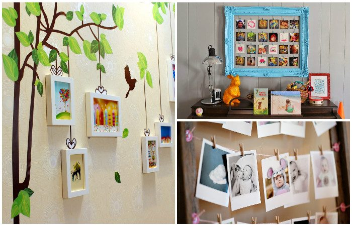 Как красиво разместить фотографии на стене