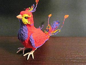 очаровательные райские птички из бархатного пластика