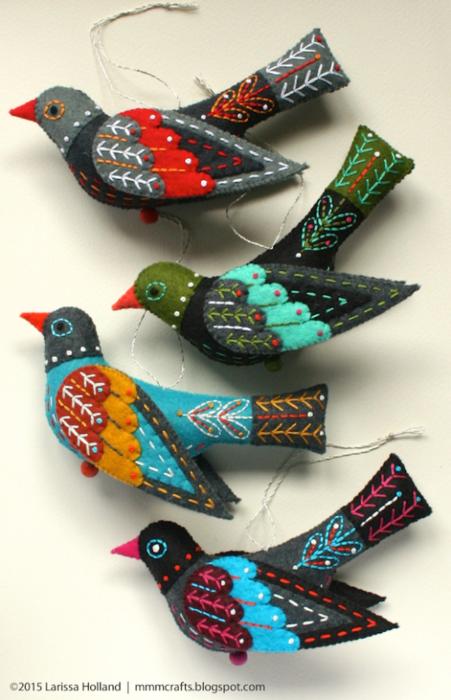 Райские птицы из фетра. Идеи (8) (451x700, 534Kb)