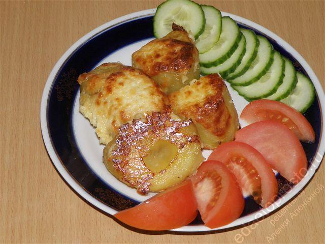 Печеный картофель рецепт с пошагово