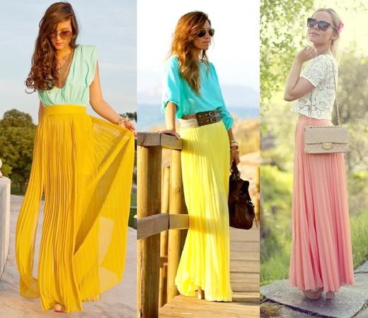 Модные юбки лето-осень 2015