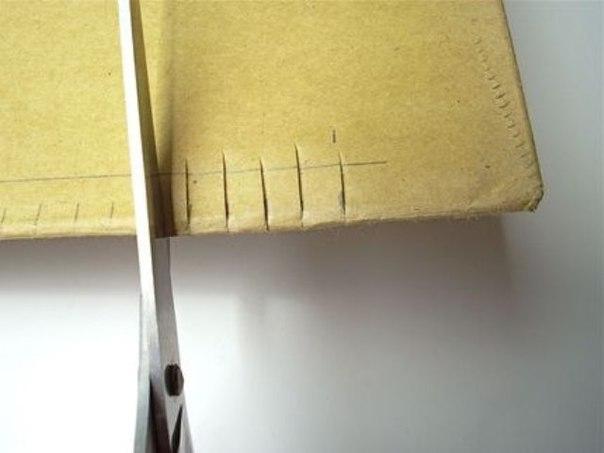 Картон и вилка вместо ткацкого станка