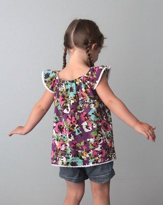 Топ для девочки. Одежда для детей своими руками
