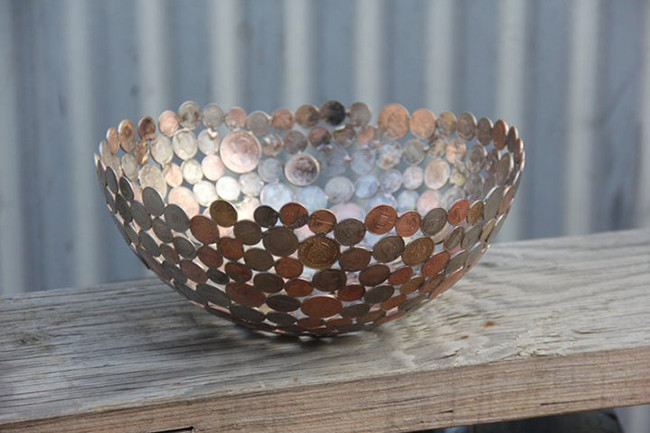 Поделка из монет своими руками