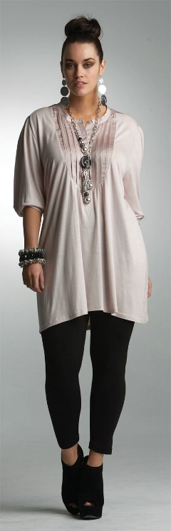 PRETTY IN PINK TUNIC## - Tops - My Size, Plus Sized Women's Fashion & Clothing