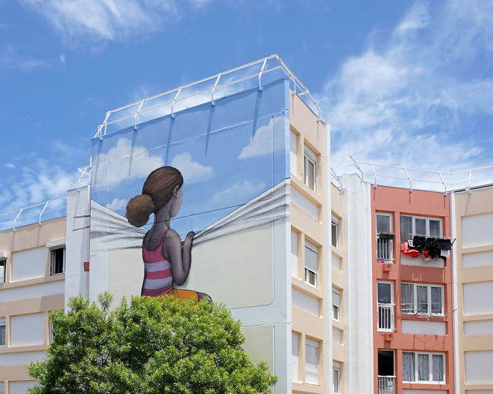 French Street Artist Transforms Boring Buildings Around The World Into Works Of Art