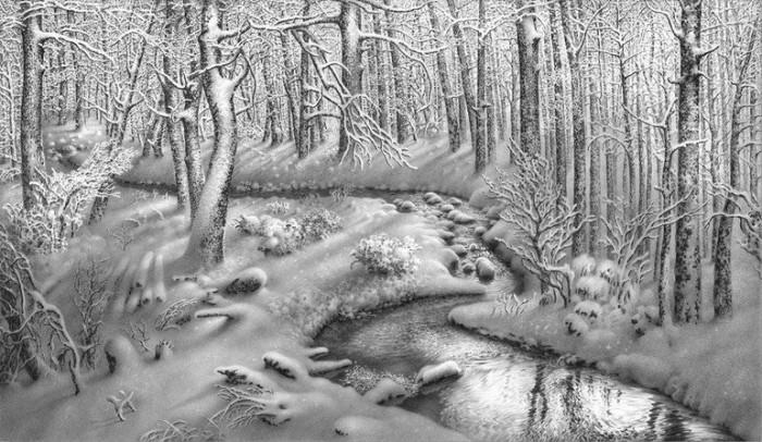рисунки карандашом пейзажи - 05