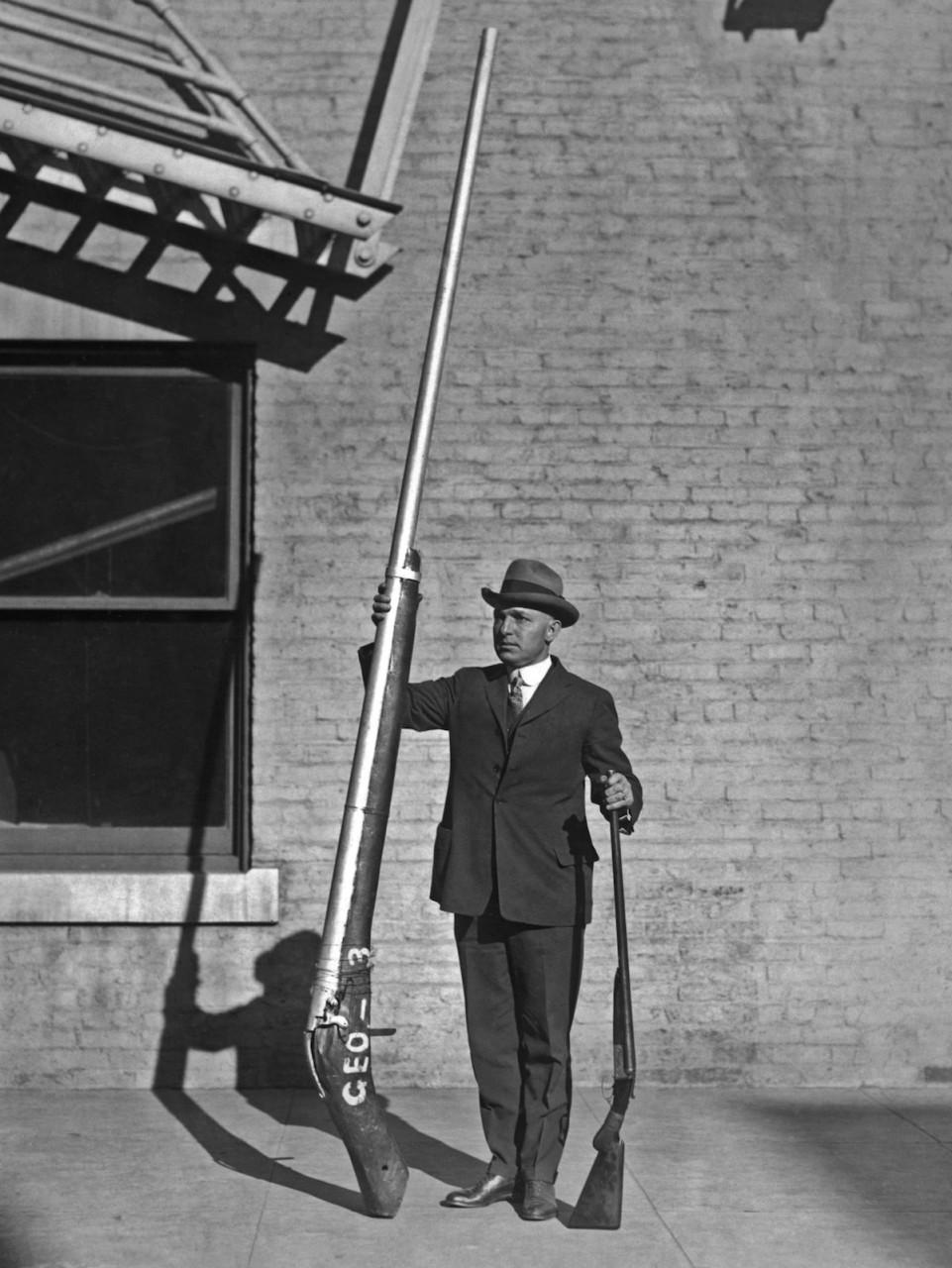 Уточницы - колоссальные ружья для массового уничтожения птиц (1910-1920гг)