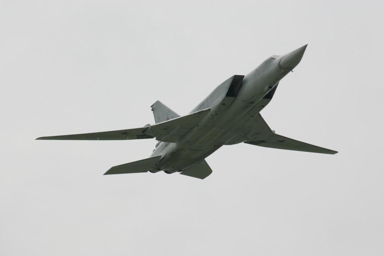 Бомбардировщик Ту-22М3 разби…