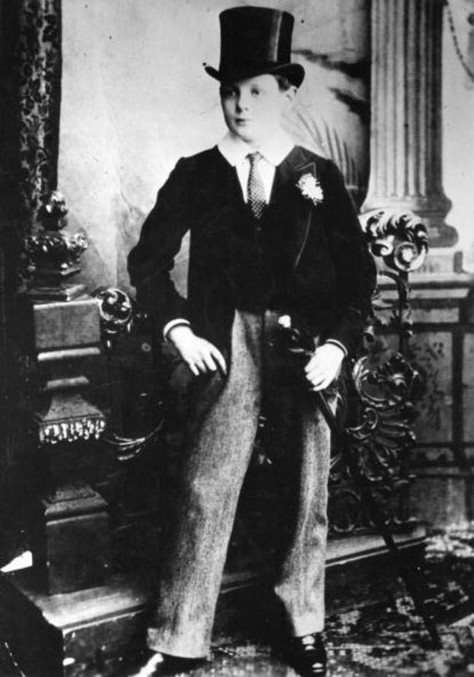 14-летний Уинстон Черчилль в школьной форме, 1889 дети, известность, история, фото