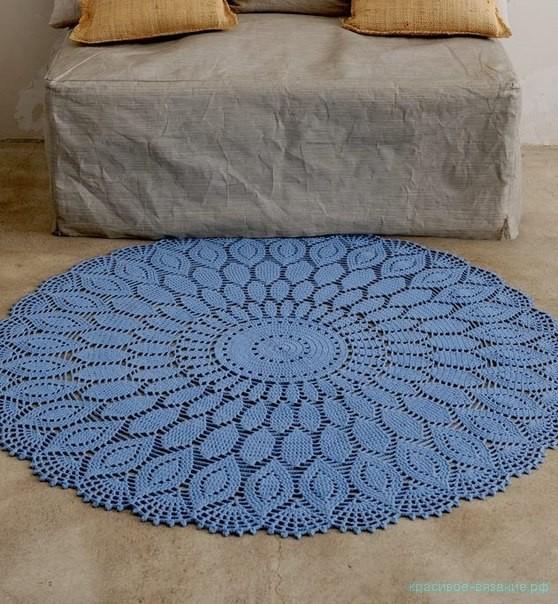 Красивый прикроватный коврик. Схема