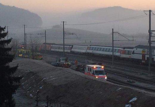 В железнодорожной катастрофе в Швейцарии пострадали 50 человек