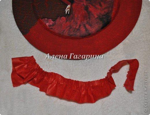 Декор предметов Мастер-класс Декупаж Тарелка Фламенко Бумага фото 10