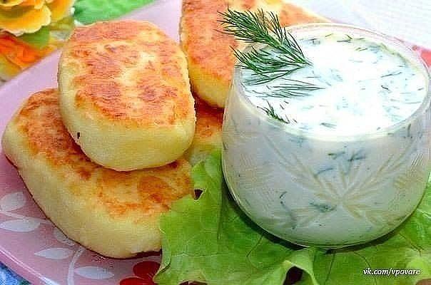 Обалденные картофельные оладьи с сыром!