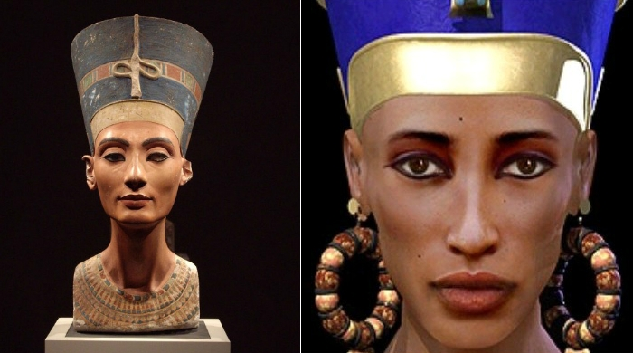 Мать фараона Тутанхамона знаменитая Нефертити.