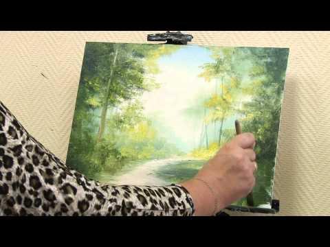 """Мастер-класс от художника Александры Юровой по написанию картины маслом на тему """"Летний лес"""""""