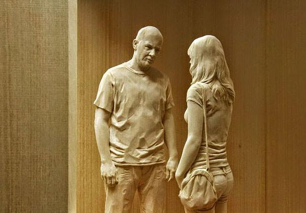 Художник создаёт удивительно реалистичные деревянные скульптуры дерево, скульптуры, художник