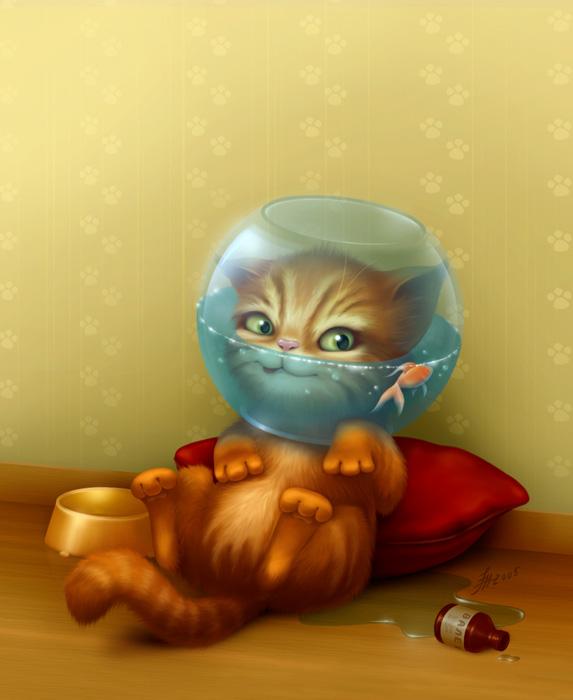 Милые рисунки от Анастасии Милашенко (burk)