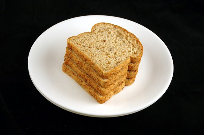 Хлеб ржаной — 90 г диета, еда, калории