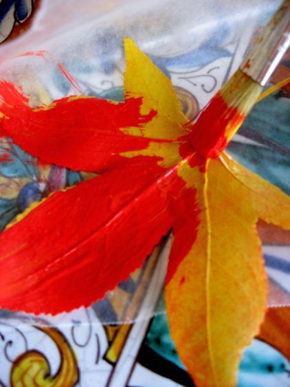 шаблон кленовый лист