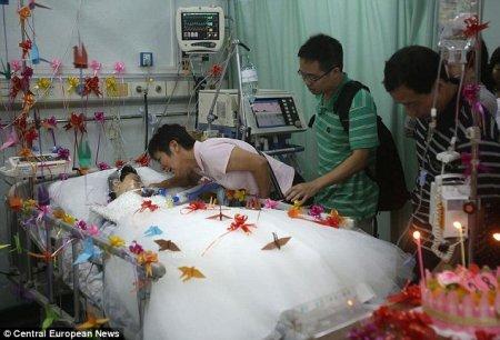 Девушка умерла через два часа после свадьбы.