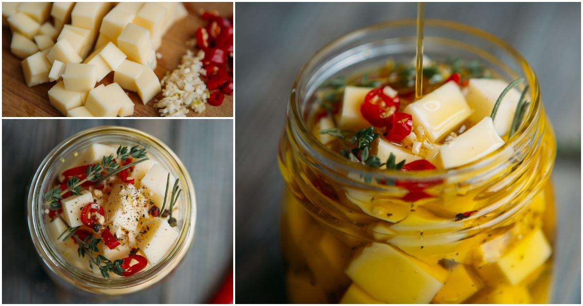 Наивкуснейший рецепт маринованного сыра — 5 минут на приготовление и отменный результат
