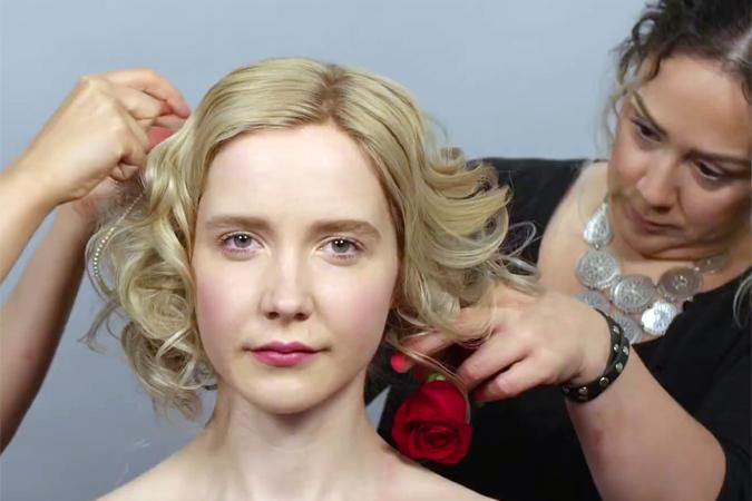 Сто лет красоты русских девушек уместили в минутное видео