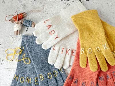Перчатки с вышивками