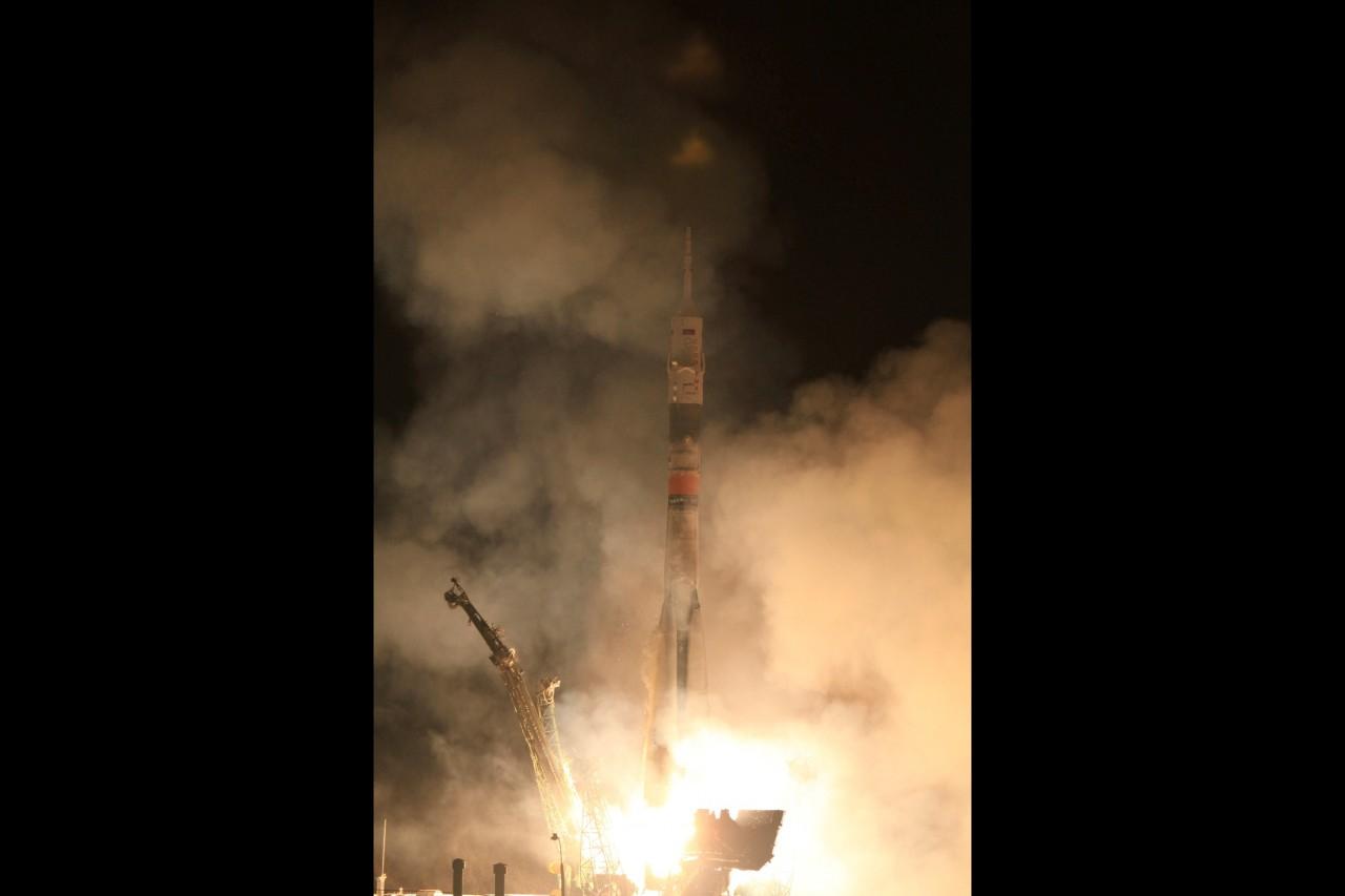 Ракета «Союз-ФГ» с пилотируемым кораблем «Союз ТМА-12М» стартовала с космодрома Байконур
