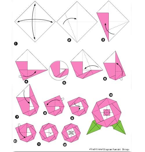 Поделки цветы своими руками из бумаги оригами