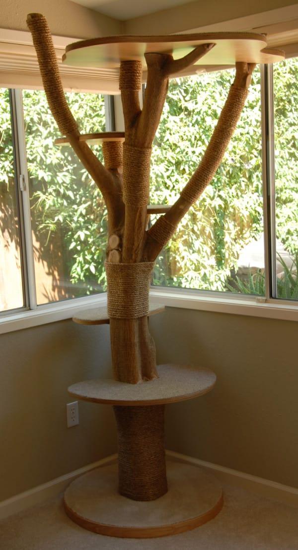 Своими руками поделки из дерева для кошек 24
