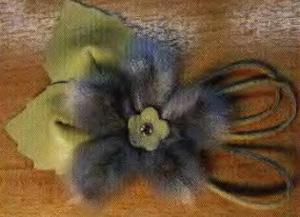 Цветы из меха. 3 мастер-класса