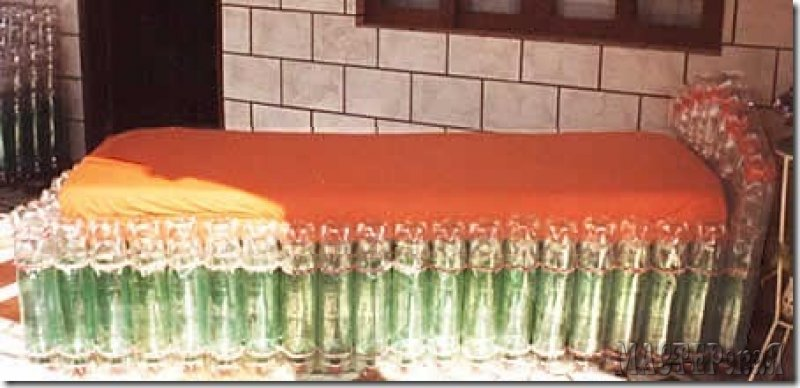 Табурет из пластиковых бутылок своими руками фото