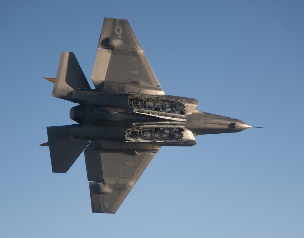 Новый американский истребитель F-35В разбился на учениях