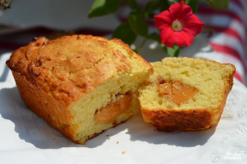 Кекс с начинкой сгущенкой рецепт с фото