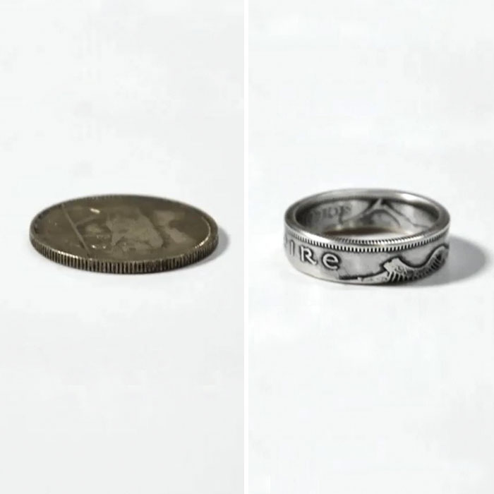 1939 Irish Coin Turned Into A Ring