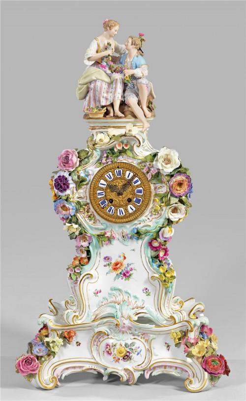 антикварный фарфор часы - 09