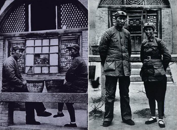 Мао Цзэдун и его жена Хэ Цзычжэнь