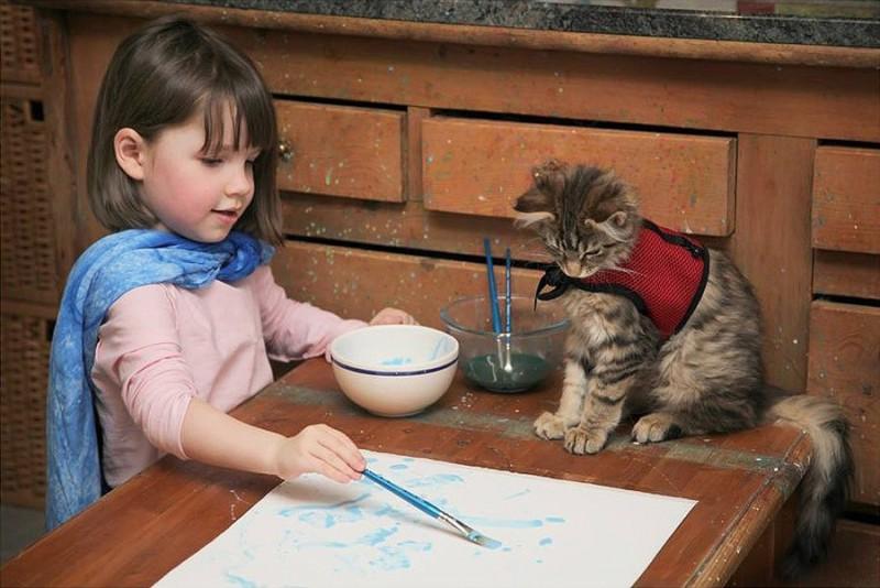 IrisandThula01 800x534 Как кошка Тула помогает девочке с аутизмом