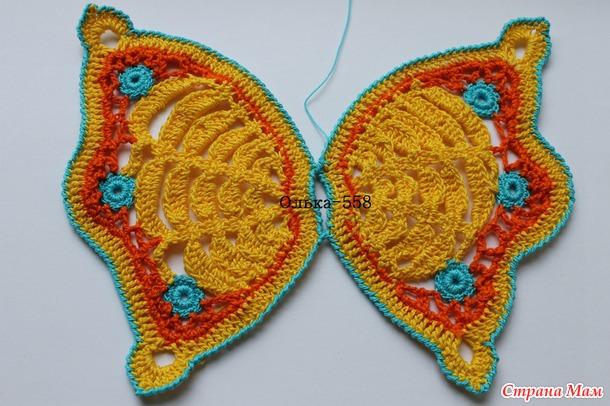Он-лайн яркий беретик от Yollka с бабочкой