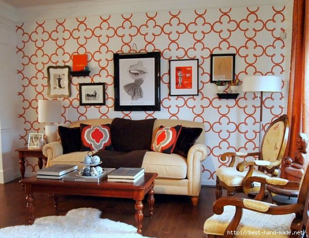 stenciled-wall-in-living-room-LoveYourRoom-611x471 (611x471, 191Kb)
