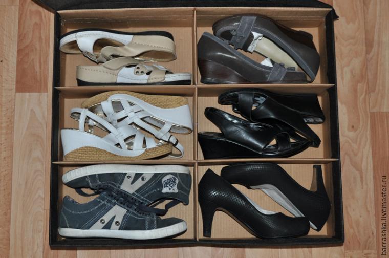 Практичный короб для хранения обуви своими руками