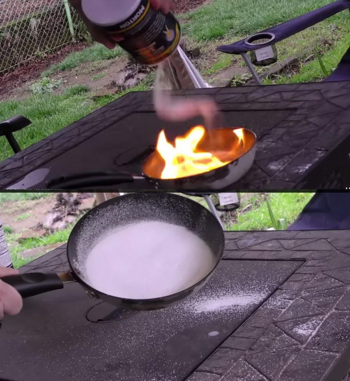 2. Пожар на сковороде быт, соль