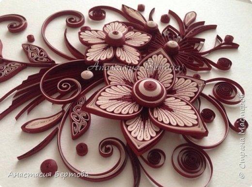 Картина панно рисунок Мастер-класс Квиллинг Фантазийный цветок Бумажные полосы Клей фото 1