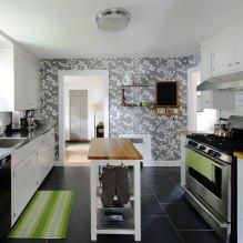 Идеи интерьера кухни с фотообоями-8