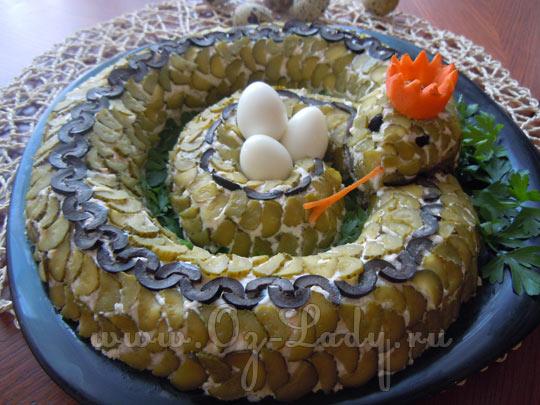 Салаты в виде змеи фото