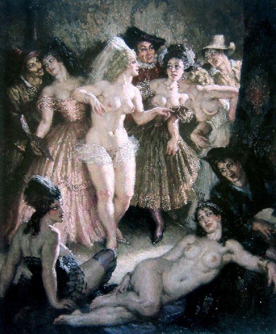 Прелестные нимфы, козлоногие обольстители и демоны в картинах Нормана Линдсея 18