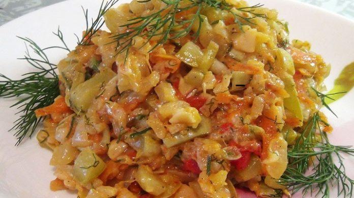 Самые вкусные тушеные кабачки с рисом
